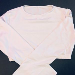 White crop top long sleeve L